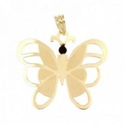 Colgante oro 18k mariposa lisa alas caladas