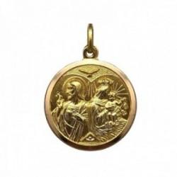 Medalla oro 18k Sagrada Familia 20mm. bisel liso unisex