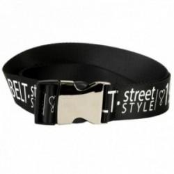 Cinturón Lola Casademunt street style negro hebilla tamaño ajustable