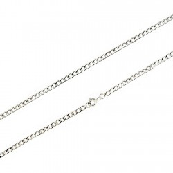 Cadena plata 60cm. barbada 3,10mm. [5751]