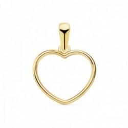 Colgante oro 18k corazón 13mm. calada cerco liso