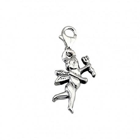 Colgante charm plata Ley 925m Cupido mosquetón [5769]