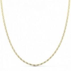 Cadena oro 18k 40cm. eslabón tipo ancla tallado diamantado ancho 1.5mm. cierre reasa