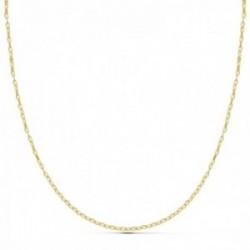 Cadena oro 18k 45cm. eslabón tipo ancla tallado diamantado cierre reasa