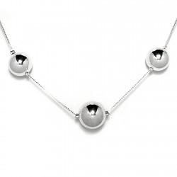 Collar plata Ley 925m 11 bolas 8 a 16mm. diámetro [720]