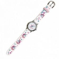 Reloj Agatha Ruiz de la Prada AGR292 colección Fantasía niña blanco unicornios silicona relieve