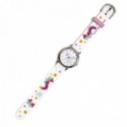 Reloj Agatha Ruiz de la Prada AGR294 colección Fantasía niña blanco mariposas silicona relieve