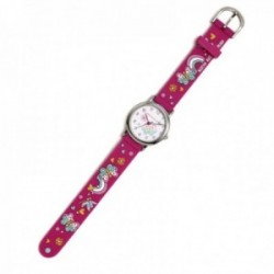 Reloj Agatha Ruiz de la Prada AGR295 colección Fantasía niña rosa fucsia mariposas silicona relieve