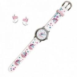 Conjunto Agatha Ruiz de la Prada AGR296 colección Fantasía niña unicornios reloj pendientes plata