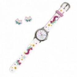 Conjunto Agatha Ruiz de la Prada AGR298 colección Fantasía niña mariposas reloj pendientes plata