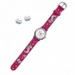 Conjunto Agatha Ruiz de la Prada AGR299 colección Fantasía niña mariposas reloj pendientes plata
