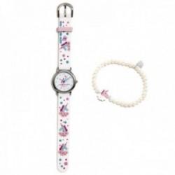 Conjunto Agatha Ruiz de la Prada AGR300 colección Fantasía niña unicornio reloj blanco pulsera plata