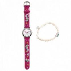 Conjunto Agatha Ruiz de la Prada AGR303 colección Fantasía niña mariposas reloj fucsia pulsera plata