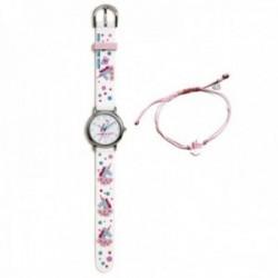 Conjunto Agatha Ruiz de la Prada AGR304 colección Fantasía niña unicornio reloj blanco pulsera plata