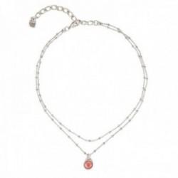 Gargantilla Unode50 Maravilla COL1361CRLMTL0U colección Treasure metal chapado plata cadena alterna