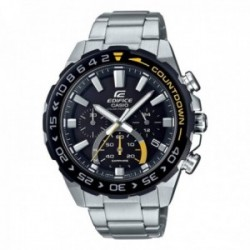Reloj Casio Edifice hombre EFS-S550DB-1AVUEF Premium Collection acero inoxidable detalles amarillos