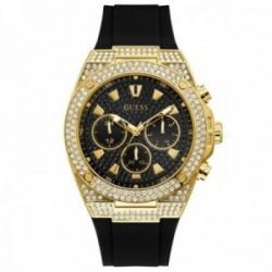 Reloj Guess hombre GW0060G2 Pegasus cristales Swarovski con certificado multifunción negro dorado