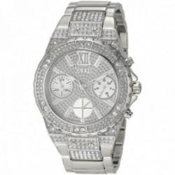 Reloj Guess mujer GW0037L1 Aphrodite cristales Swarovski con certificado multifunción plateado