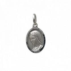 Medalla plata Ley 925m escapulario macizo Virgen de Medjugorje Reina de la Paz santuario unisex