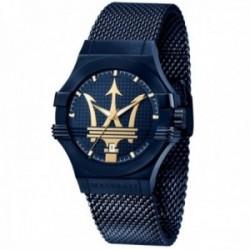 Reloj Maserati hombre R8853108008 edición limitada Blue Edition acero inoxidable malla milanesa