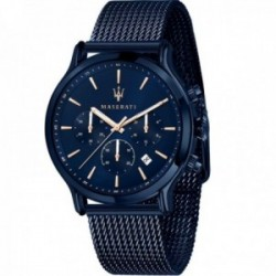 Reloj Maserati hombre R8873618010 edición limitada Blue Edition multifunción malla milanesa