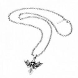 Collar Police hombre PJ.25708PSS-01 coleccion Viking acero inoxidable colgante alas cruz