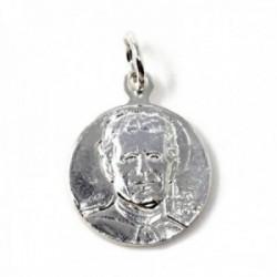 Medalla plata Ley 925m escapulario 13mm. Don Bosco Virgen María Auxiliadora lisa maciza