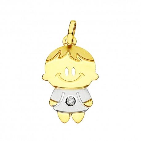 Colgante oro 9k chico circonita [6732]