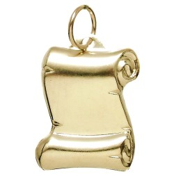 Colgante Gold Filled pergamino 19 liso chapa estampada [2517]