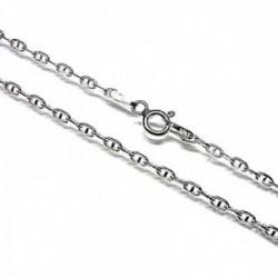 Cadena plata Ley 925m lisa 45cm. forzada marina cierre reasa