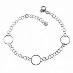 Pulsera plata Ley 925m cadena asas 21cm. detalle Karma cierre reasa