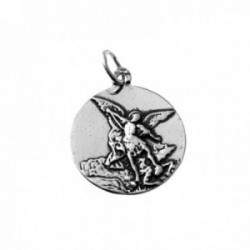 Colgante medalla plata Ley 925m San Miguel 20mm. relieve lisa