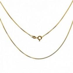 Cadena plata Ley 925m chapada oro 40cm. modelo veneciana cierre reasa