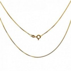 Cadena plata Ley 925m chapada oro 45cm. modelo veneciana cierre reasa