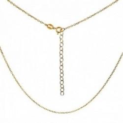 Cadena plata Ley 925m chapada oro 40cm. modelo forzada cierre reasa