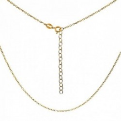 Cadena plata Ley 925m chapada oro 45cm. modelo forzada cierre reasa