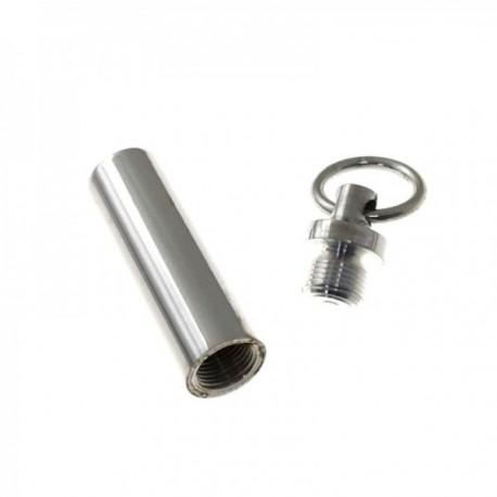 Colgante plata Ley 925m guarda cenizas 32mm. tubo liso tapón rosca