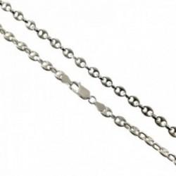 Cadena plata Ley 925 maciza 50cm. eslabón modelo calabrote 5mm. ancho cierre mosquetón