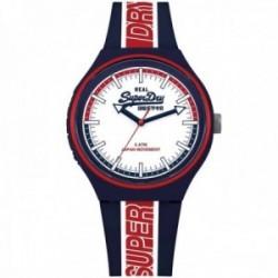 Reloj Superdry SYG238UR Urban XL Retro Sport silicona azul marino franja roja