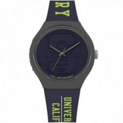 Reloj Superdry SYG240UN Urban XL Varsity azul marino silicona University of California