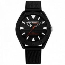 Reloj Superdry SYG243B Osaka silicona negro líneas relieve