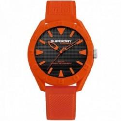 Reloj Superdry SYG243O Osaka silicona naranja líneas relieve