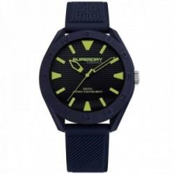 Reloj Superdry SYG243U Osaka silicona azul marino líneas relieve