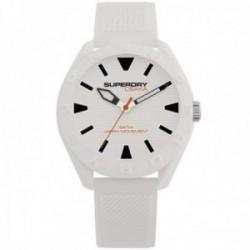 Reloj Superdry SYG243W Osaka silicona blanco líneas relieve