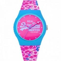 Reloj Superdry SYL169UP Urban Style correa silicona estampado floral detalles azules