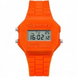 Reloj Superdry SYL201O Mini Retro Digi silicona naranja digital multifunción