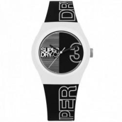 Reloj Superdry SYL239BW Urban Fusion silicona negro caja blanco