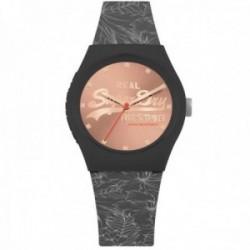 Reloj Superdry SYL248E Urban Leaf gris silicona estampado floral