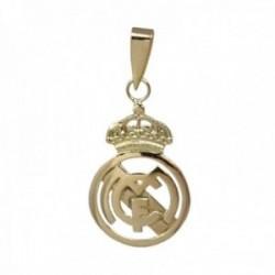 Colgante oro 18k escudo 26mm. Real Madrid Club de Fútbol calado liso
