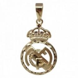 Colgante oro 18k escudo 28mm. Real Madrid Club de Fútbol calado cerco tallado